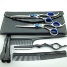 Kappersschaar Set Diamond Blue + razor